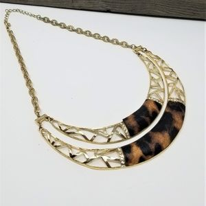 Wild Side Tiger Gold Tone Necklace 18 to 22'' Long